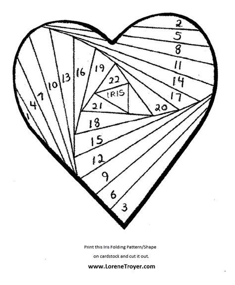 iris folding valentines day card