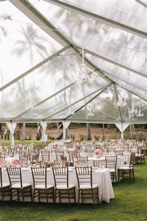 Hawaiian Pink And Gold Wedding Receptions Outdoor