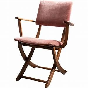 Chaise Velours Design : chaise italienne pliante en marron velours et cuivre 1950 design market ~ Teatrodelosmanantiales.com Idées de Décoration