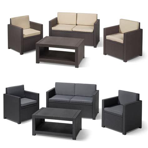 gartenmöbel set lounge poly rattan gartenm 214 bel lounge set rattanoptik sitzgruppe garnitur braun grau ebay