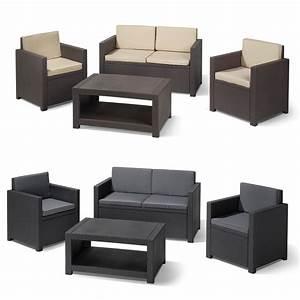 Gartenmöbel Lounge Rattan : poly rattan gartenm bel lounge set rattanoptik sitzgruppe garnitur braun grau ebay ~ Indierocktalk.com Haus und Dekorationen