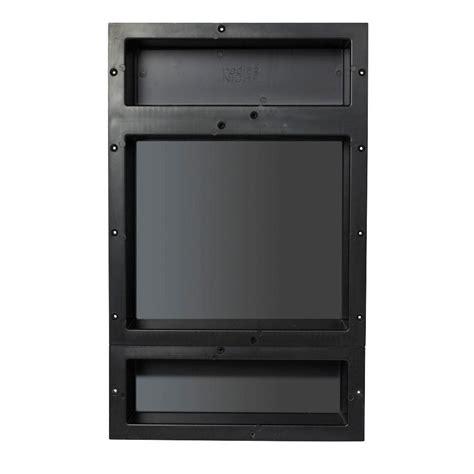 tile redi niche home depot redi niche 16 in x 20 in niche set in black