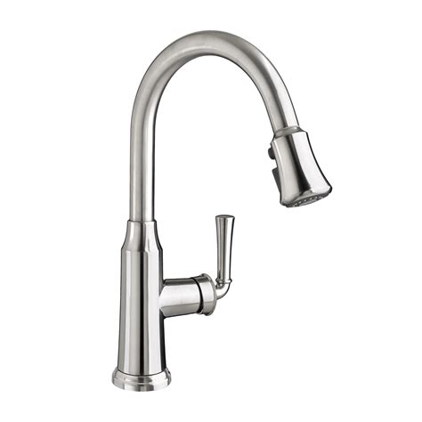 kitchen faucet plumbing american standard portsmouth 1 handle pull down high arc kitchen faucet stainless steel