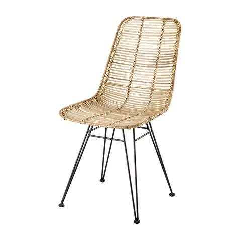 chaise en rotin et métal pitaya maisons du monde