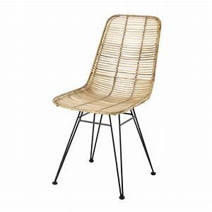 Chaise Rotin Metal : chaise en rotin et m tal pitaya maisons du monde ~ Teatrodelosmanantiales.com Idées de Décoration