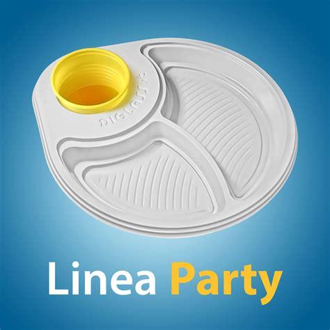 piatti bicchieri per feste linea piatti bianchi e neri per feste a buffet