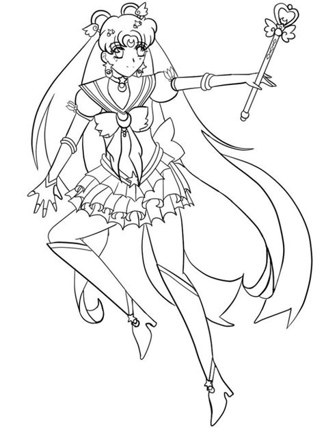printable sailor moon coloring pages  kids