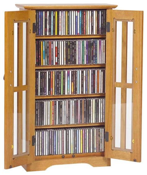 Oak Bathroom Cabinets Storage by Leslie Dame Cd Dvd Wall Hanging Mission Glass Multimedia