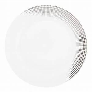 Assiette Plate Blanche : assiette plate blanche diam tre 27 cm silver dya ~ Teatrodelosmanantiales.com Idées de Décoration