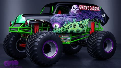 grave digger monster truck images grave digger monster truck by chris pryke 3d artist
