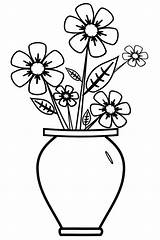 Coloring Vase Pages Children sketch template