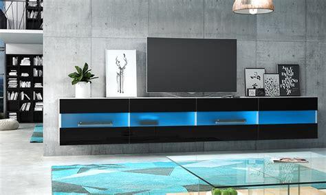 meuble tv brico led bleue groupon shopping