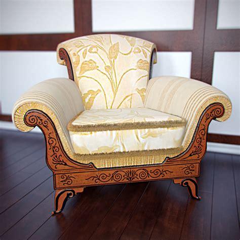 Single Chair Sofa european luxury single sofa chair 3d model 3d model