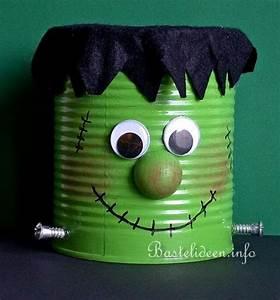 Basteln Halloween Mit Kindern : basteln mit kindern zu halloween frankenstein monster dose ~ Yasmunasinghe.com Haus und Dekorationen