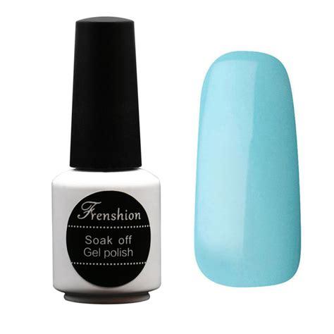 frenshion 7 3ml esmalte light blue nail gel uv gel nail soak 99colors bling vernis