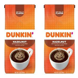 Now you can experience that signature dunkin' donuts taste at. (2 PACKS) Dunkin' Donuts Hazelnut Flavored Ground Coffee 12-Ounce 881334000498   eBay
