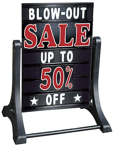 2 inch letters for changeable sidewalk signs this sidewalk sign allows frequent message changes buy 61927