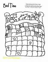 Coloring Bedtime Cartoon Quilt Bed Lit Coloriages Kleurplaten Objets Nacht Printable Coloriage Lekker Slaap Clipartxtras Afkomstig Kleuren Popular Patroontjes Kleurprent sketch template