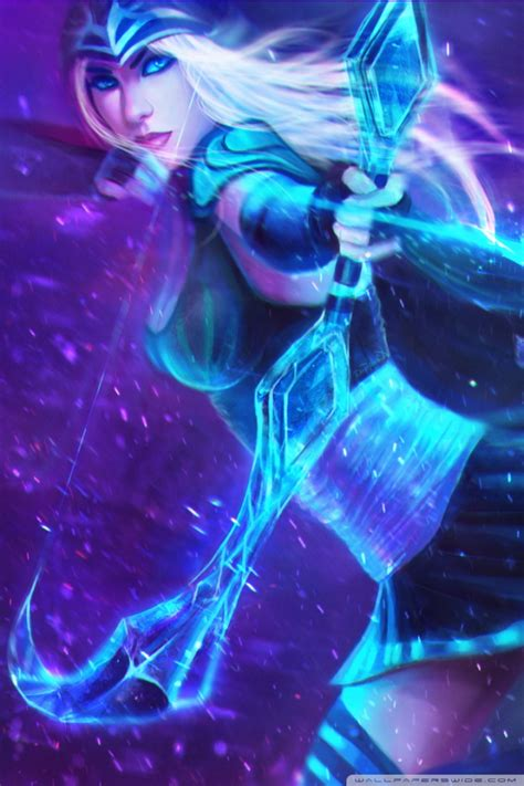 ashe  frost archer league  legends ultra hd