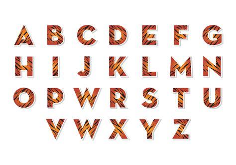 libres alfabetos de tigre vector descargar vectores gratis illustrator graficos plantillas