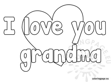 love  grandma coloring page coloring page