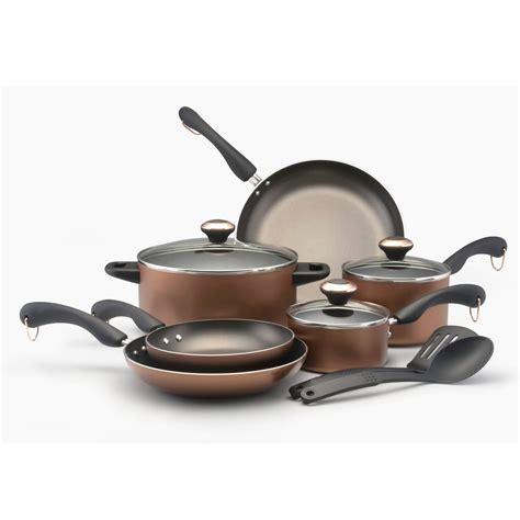 paula deen cookware piece signature aluminum copper nonstick safe sets press walmart dishwasher healthy kitchen coating 11pcs pan amazon stick