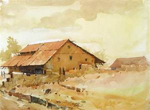 Bhugaon Village India ( ) (Watercolor Landscapes)