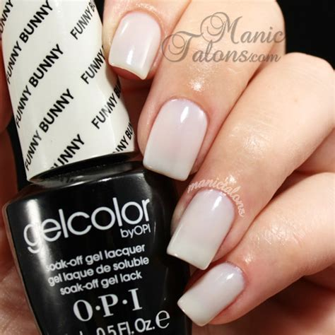 manic talons nail design opi gelcolor swatch gallery