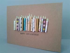 18 Kerze Geburtstagskarte Kann Personalisiert Von