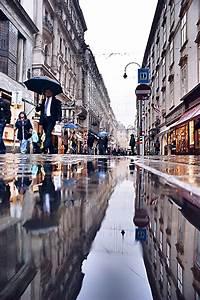 Picsart, Picsart, Vienna, Rain, Umbrella, Street, Reflection