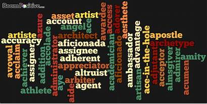 Start Positive Nouns Words Letter Boom Articles