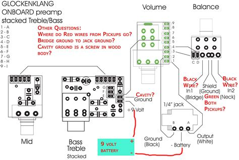 Wiring Diagram Pre Eq by Need Help Wiring Glockenklang Pre 3 Band 4 Knob Into