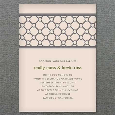 Printable Invitation with Modern Lattice Design Download