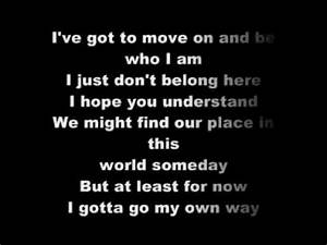 High School Musical 2 - Gotta Go My Own Way - Lyrics.flv ...