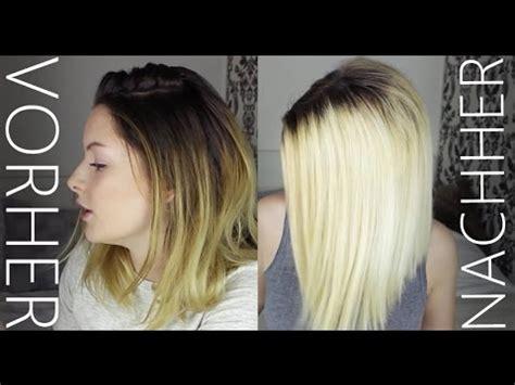 platin blond werden ohne gelbstich ness youtube