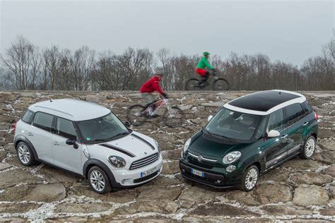 fiat   mini cooper countryman comparison test