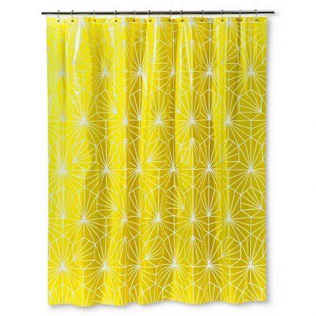 geometric shower curtain bright yellow geometric starburst peva vinyl shower