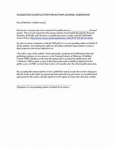 cover letter for manuscript submission the letter sample With how to write a cover letter for a manuscript submission