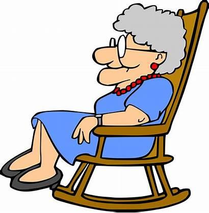 Grandma Clipart Chair Rocking Grandmother Sleeping Transparent