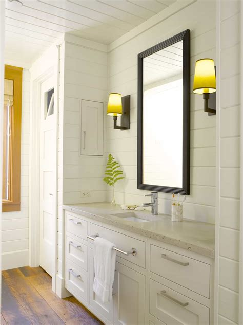 Bright Cottage Bathroom Features Wall To Ceiling White