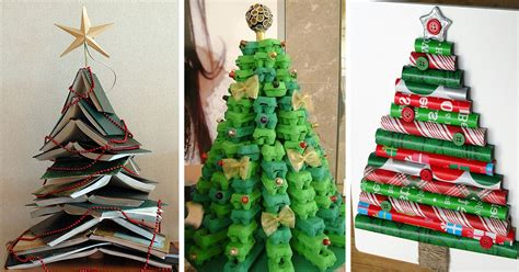 hand made christmas out of paper 22 creative diy tree ideas bored panda
