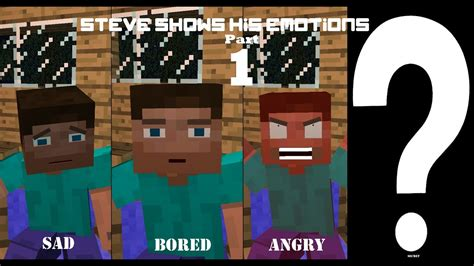 minecraft animation steve shows  emotions part  bts