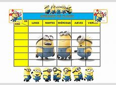 10 modelos de horarios escolar para niños Material para