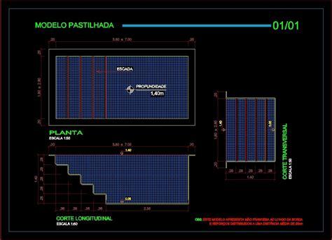 pool   dwg block  autocad designs cad