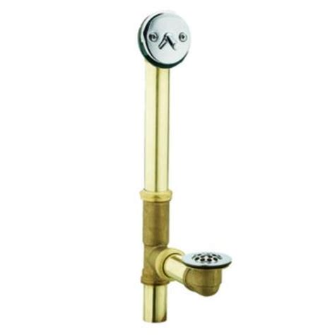 bathtub drain lever wont stay moen brass trip lever tub drain assembly in chrome 90410