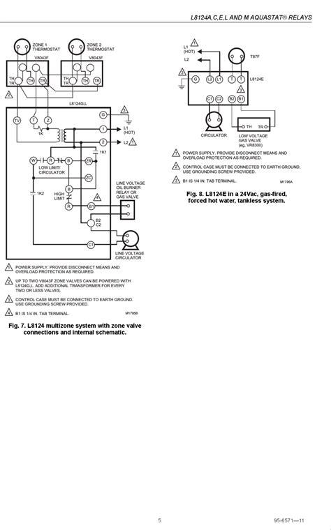 honeywell gas boiler aquastat wiring diagram