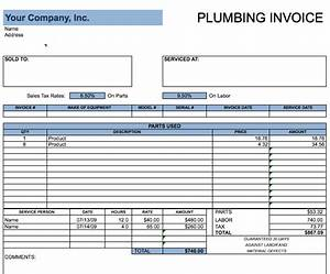 Plumbing invoice template free invoice templates for Plumbing invoices free samples