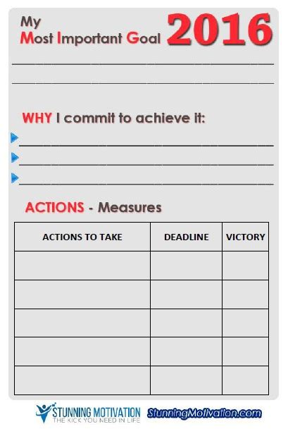 goal planning template 11 effective goal setting templates for you