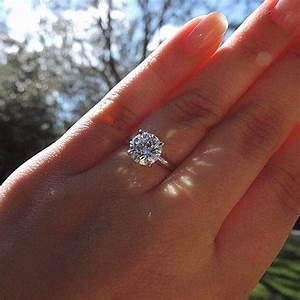 2 carat engagement ring on hand rings With 2 carat diamond wedding ring