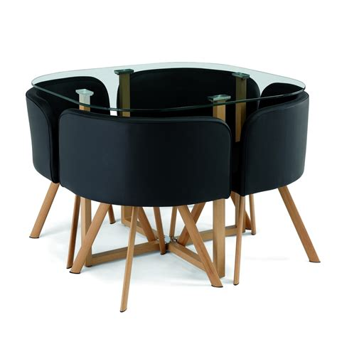 cuisine encastrable deco in ensemble table 4 chaises encastrable noir